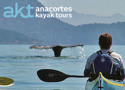 A seasonal Kayak Guide with Anacortes Kayak Tours leads an adventure trip in the San Juan Islands.