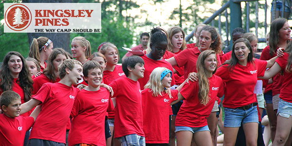 Kingsley Pines is now hiring for 2015! They are looking for staff who love working with kids, want to spend all summer outside, and want to make an impact on a child's life.