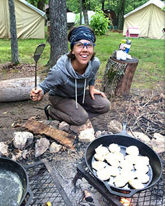Living in tents in the woods, cooking over a fire, and facilitating the daily camp routine, you'll use activities and many other adventures in intentional ways to grow young people's confidence, relationships, and purpose.