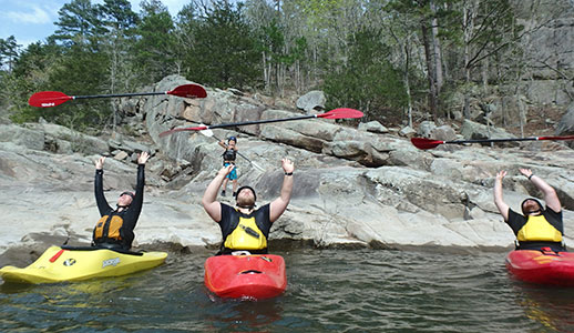 Summer Adventure Guides will lead small groups of youth through an exhilarating 10-week summer adventure camp program.